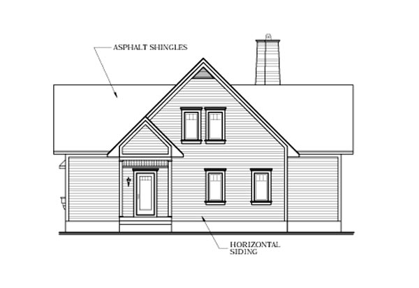 Country, Craftsman House Plan 64808 with 3 Beds , 4 Baths Rear Elevation