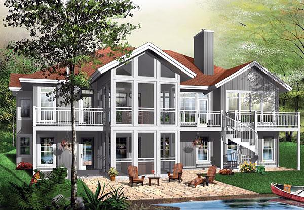 Contemporary, Craftsman House Plan 64811 with 5 Beds, 4 Baths, 2 Car Garage Elevation