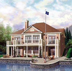 European House Plan 64813 Elevation