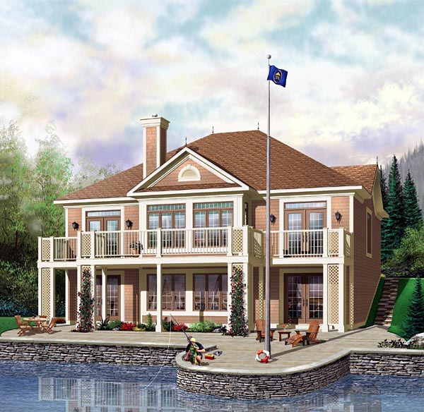 European House Plan 64813 Elevation