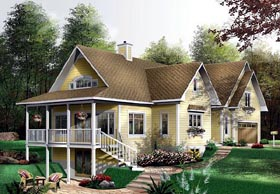 Country House Plan 64815 with 3 Beds, 4 Baths, 2 Car Garage Elevation