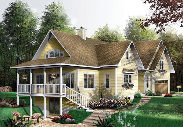 Country House Plan 64815 Elevation