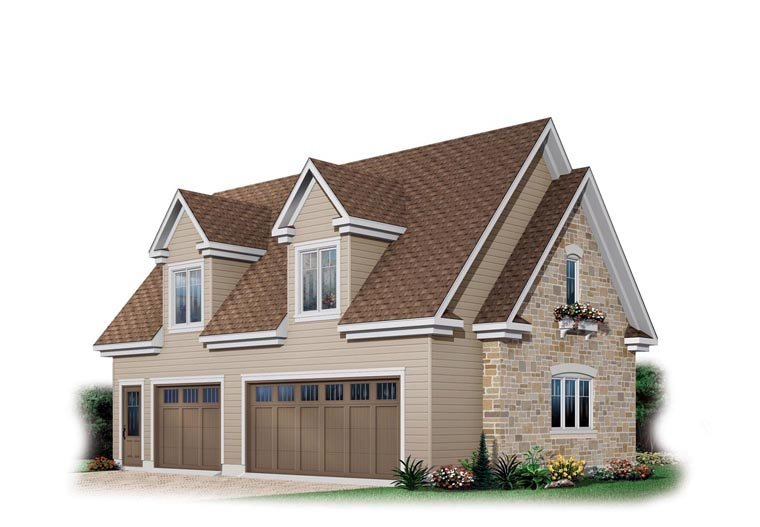 Craftsman Garage Plan 64819 Elevation
