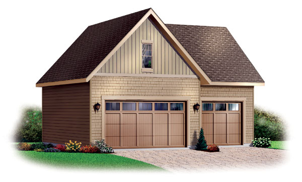Craftsman 3 Car Garage Plan 64820 Elevation