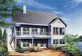 Country House Plan 64823 Elevation