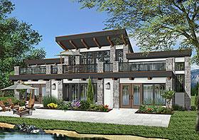 Contemporary Florida House Plan 64826 Elevation
