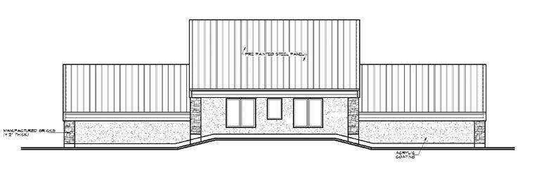 Contemporary Florida House Plan 64826 Rear Elevation