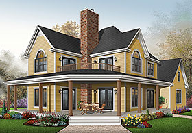 Country House Plan 64827 Elevation