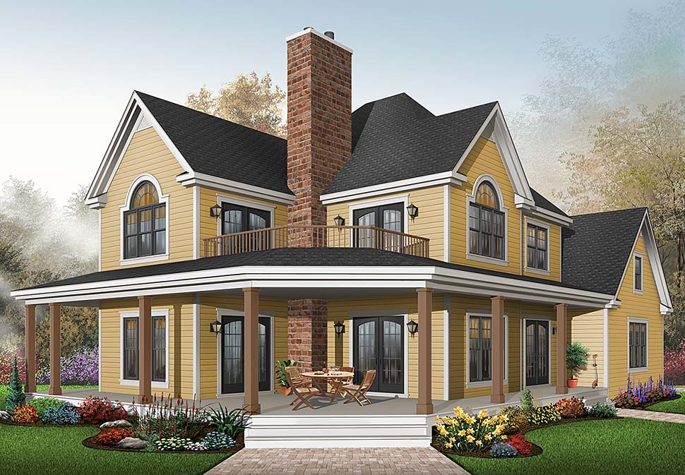 Country House Plan 64827 with 3 Beds, 3 Baths, 2 Car Garage Front Elevation
