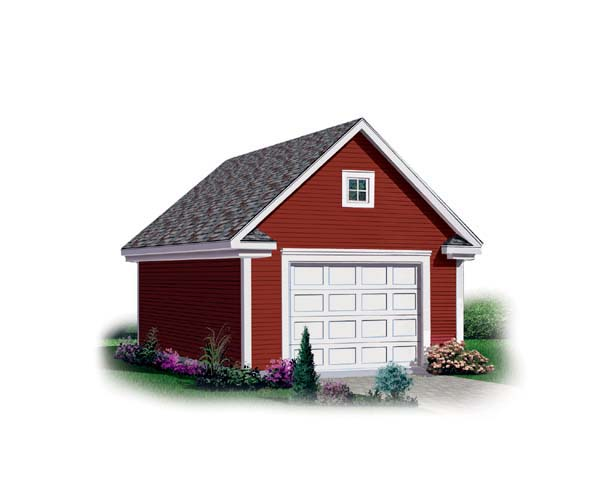 1 Car Garage Plan 64832 Elevation