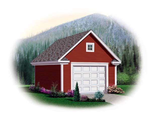 Garage Plan 64833 Elevation