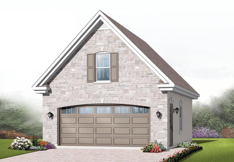 Craftsman Garage Plan 64837 Elevation