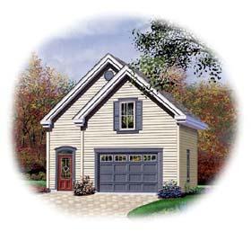 2 Car Garage Plan 64839 Elevation