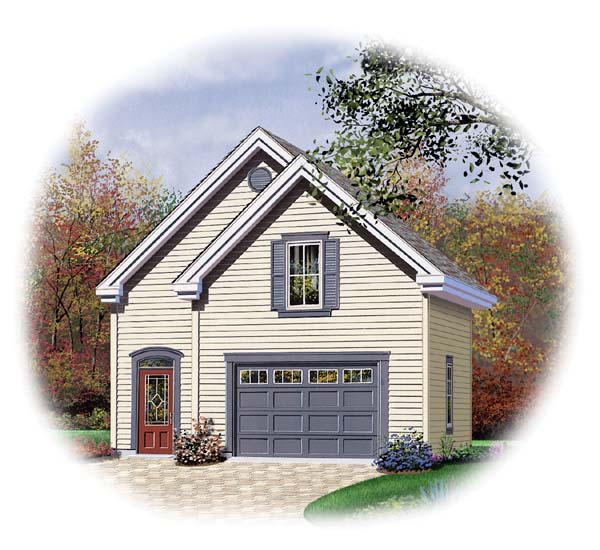 2 Car Garage Plan 64839 Front Elevation
