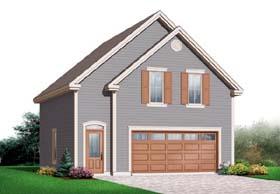 Garage Plan 64840 | Craftsman Style Plan, 2 Car Garage Elevation