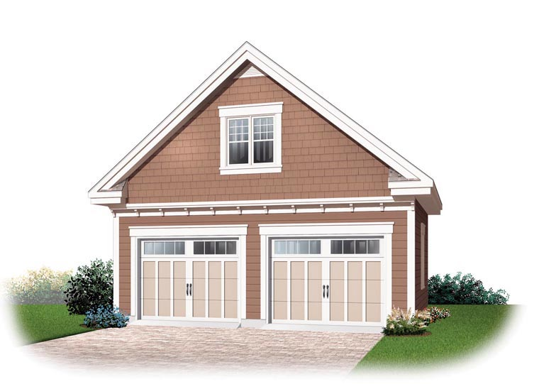 Craftsman 2 Car Garage Plan 64841 Elevation