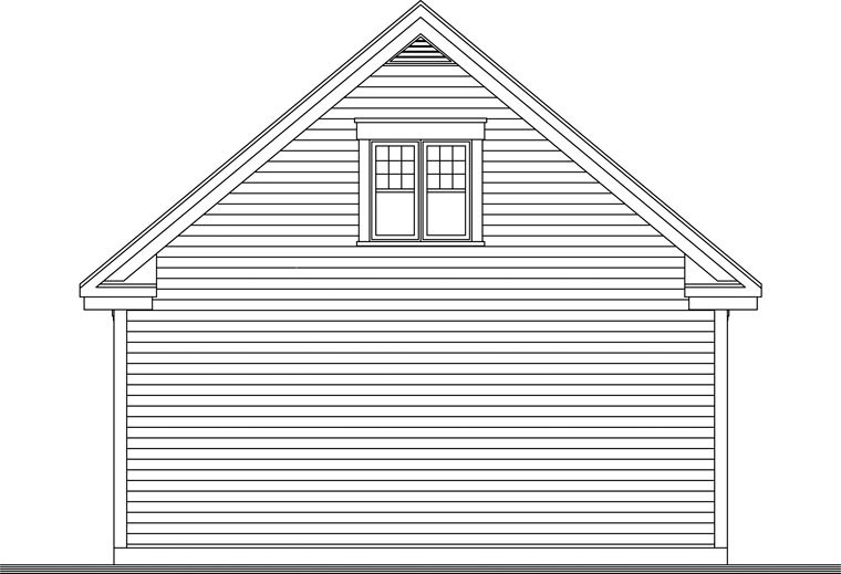 Craftsman Rear Elevation of Plan 64841