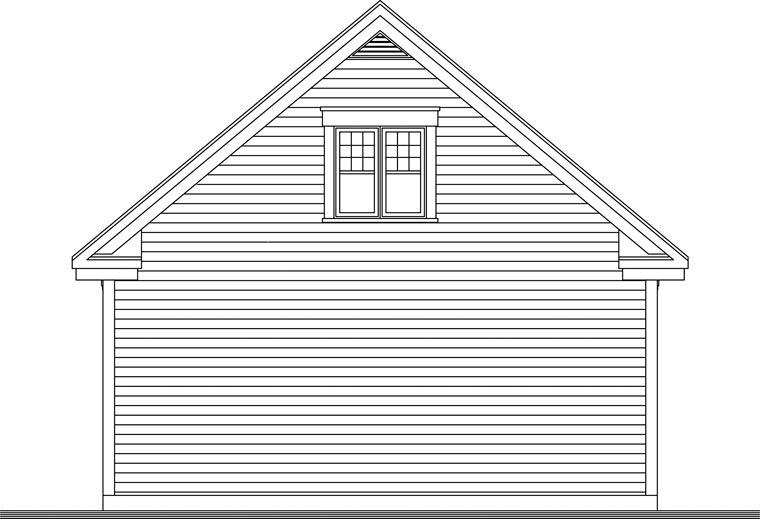 Craftsman Garage Plan 64842 Rear Elevation