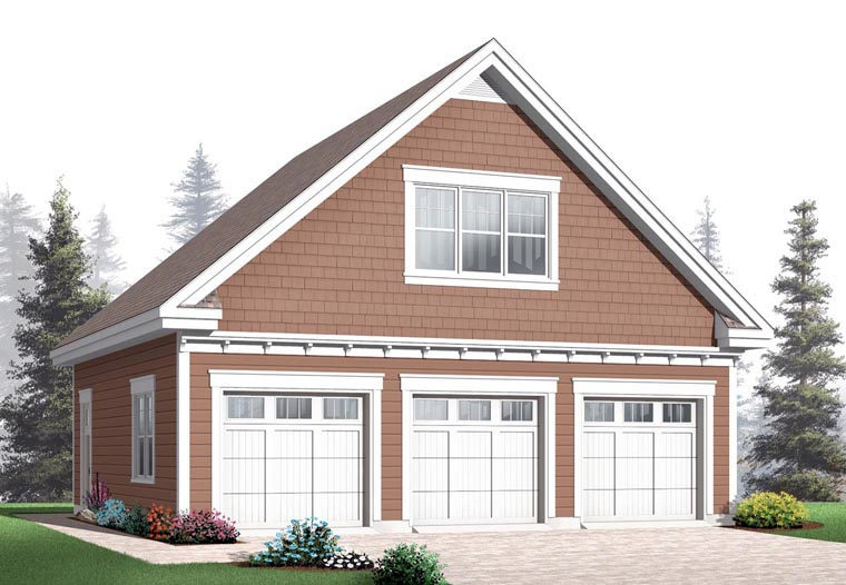 Craftsman 3 Car Garage Plan 64843 Front Elevation