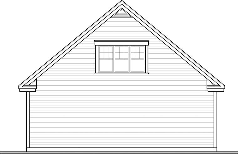 Craftsman Garage Plan 64843 Rear Elevation
