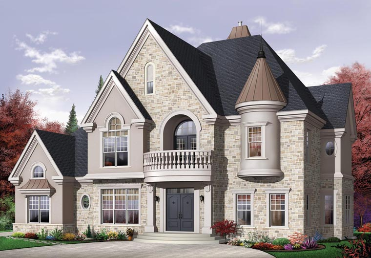 European House Plan 64847 Elevation