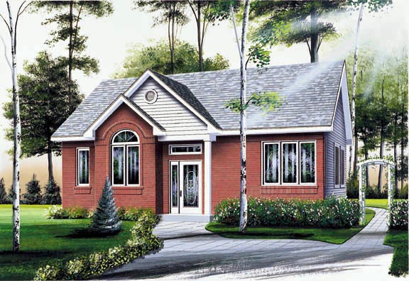 Traditional House Plan 64849 Elevation