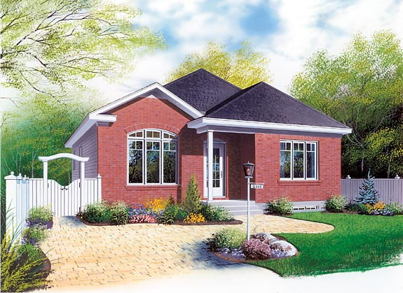 Bungalow House Plan 64850 Elevation
