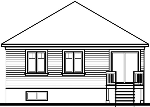 Bungalow House Plan 64850 Rear Elevation