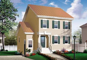 Traditional House Plan 64856 Elevation