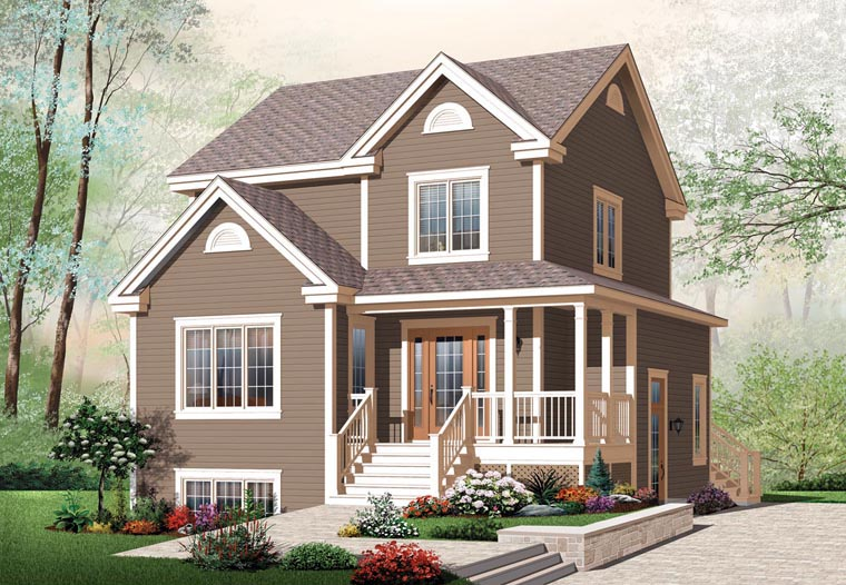 Country Farmhouse Elevation of Plan 64858