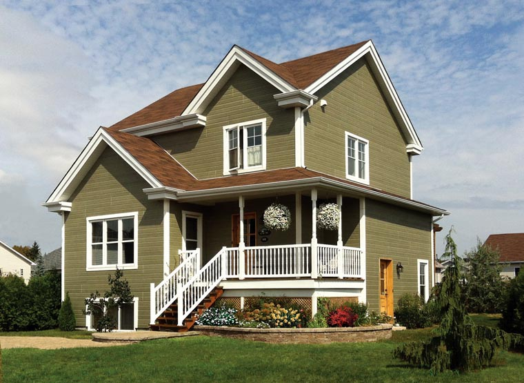 Country, Farmhouse House Plan 64858 with 3 Beds, 2 Baths Picture 1