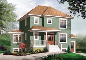 Country , Traditional House Plan 64860 with 3 Beds, 2 Baths Elevation