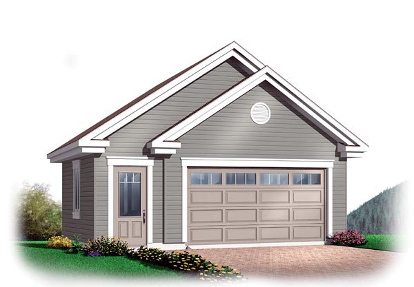 Craftsman , Traditional , Elevation of Plan 64873