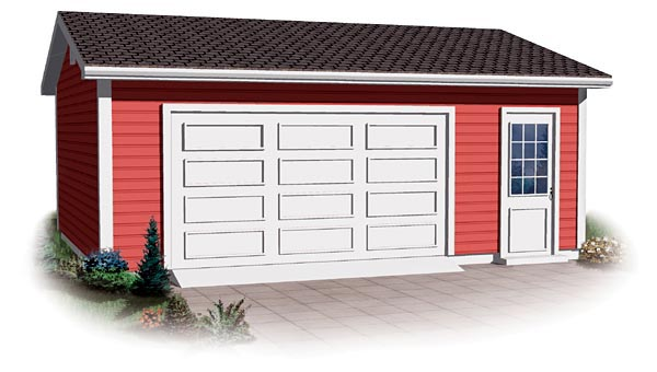 Ranch, Traditional 1 Car Garage Plan 64877 Elevation
