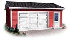 Ranch Traditional Garage Plan 64878 Elevation