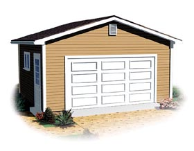 Ranch Traditional Garage Plan 64879 Elevation