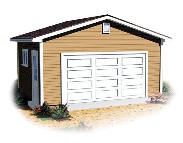 Ranch Traditional Garage Plan 64879 Elevation