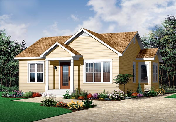 Bungalow Traditional House Plan 64886 Elevation