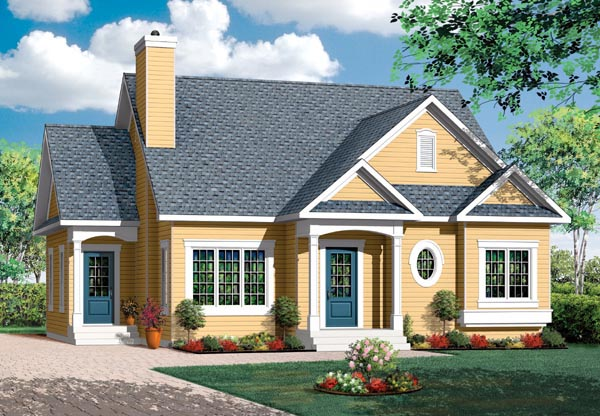 Bungalow Country House Plan 64888 Elevation