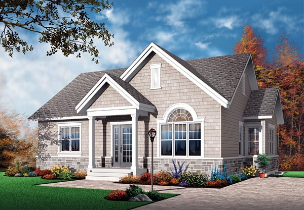 Bungalow Craftsman European House Plan 64889 Elevation