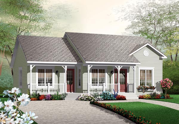 Bungalow Colonial Traditional House Plan 64891 Elevation