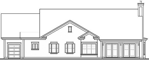 Florida Mediterranean House Plan 64893 Rear Elevation