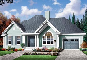 Bungalow Country House Plan 64895 Elevation
