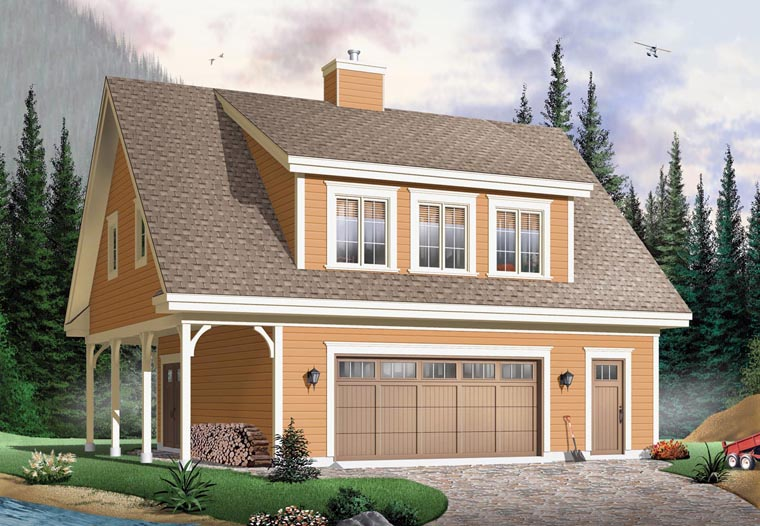 Traditional , Farmhouse , Craftsman , Country 2 Car Garage Apartment Plan 64902 with 2 Beds, 2 Baths Elevation
