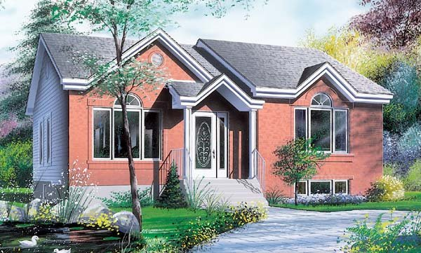 Bungalow Contemporary House Plan 64909 Elevation