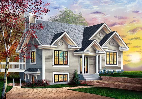 Bungalow Traditional House Plan 64910 Elevation