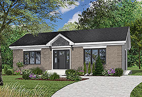 Traditional House Plan 64912 with 2 Beds, 1 Baths Elevation