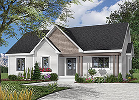 Bungalow Country House Plan 64913 Elevation