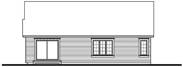 Bungalow Country House Plan 64913 Rear Elevation