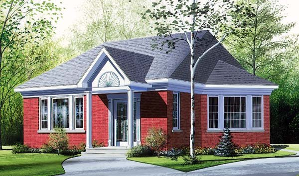 Bungalow House Plan 64916 Elevation
